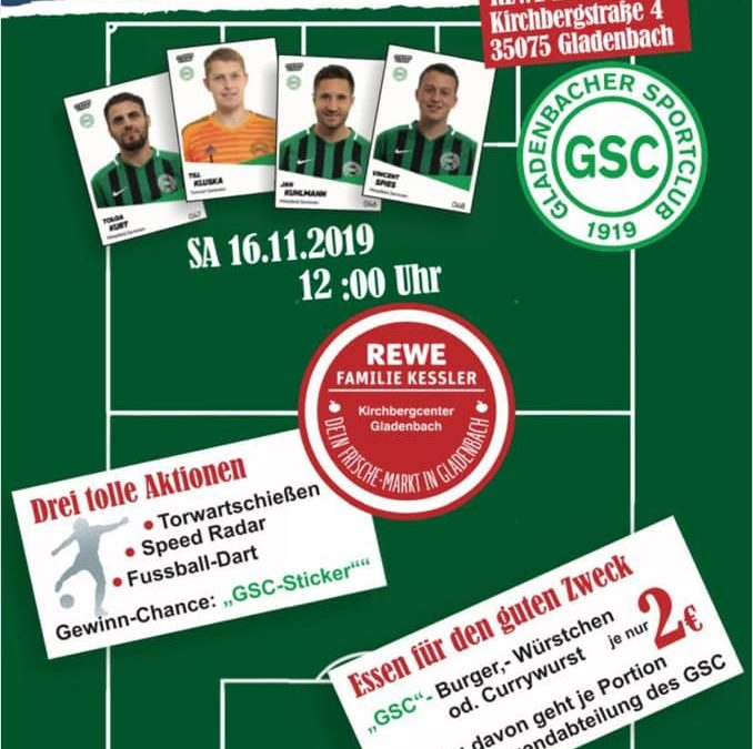 GSC Sticker Stars Kick-Off Party am Samstag bei Rewe Kessler in Gladenbach