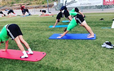 Vorbereitung mit Athletiktraining, Mobility, Yoga und Fahrrad