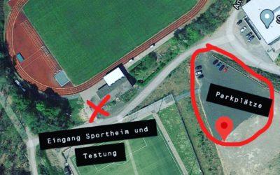 SC Gladenbach eröffnet Corona Büger-Testzentrum